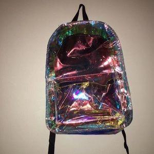 Handbags - Golden Backpack